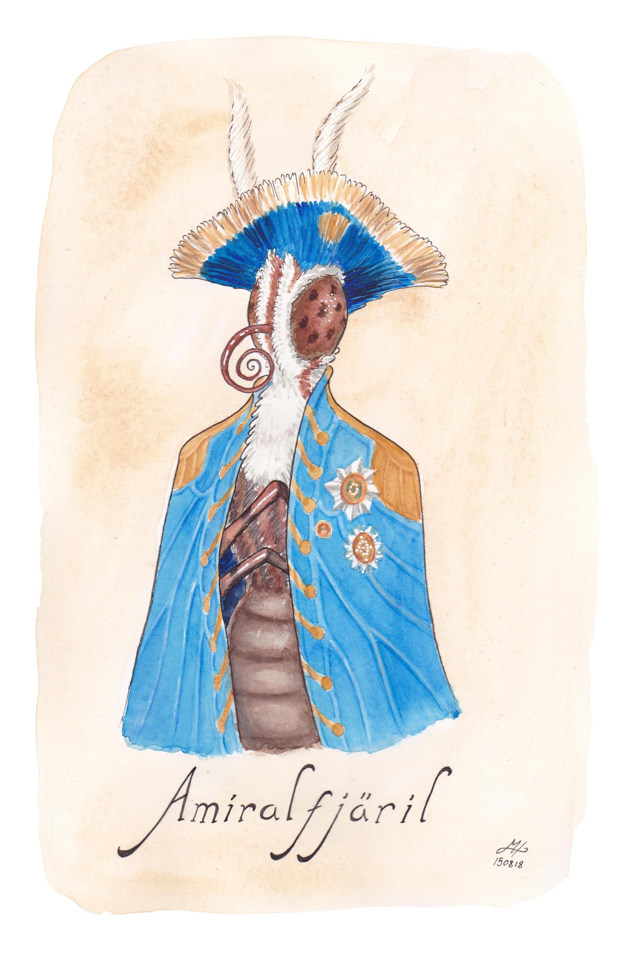 amiralfjäril illustrerad ordvits