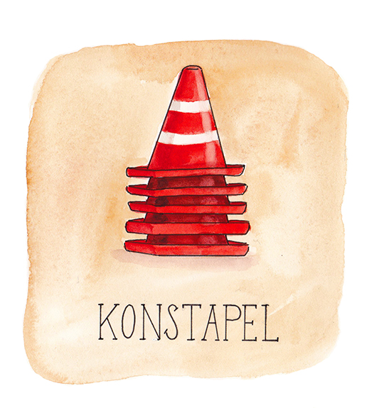 konstapel illustrerad ordvits