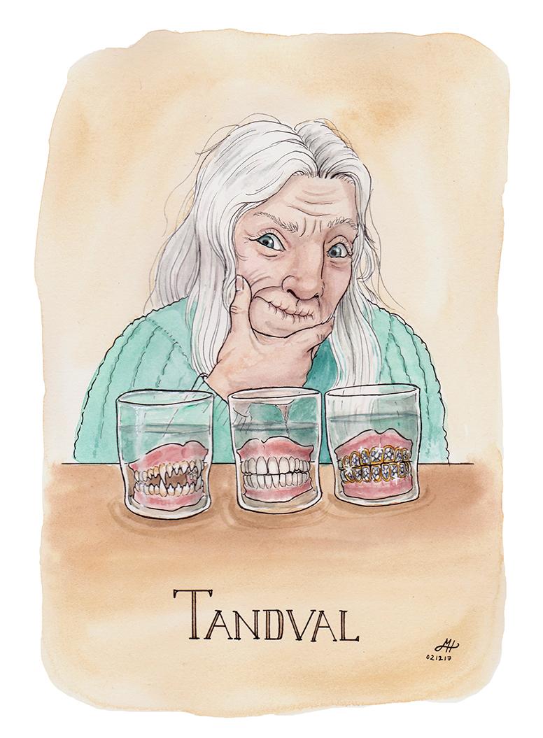 tandval illustrerad ordvits