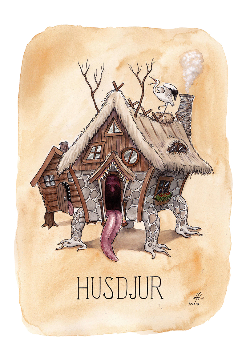 Husdjur illustration ordvits