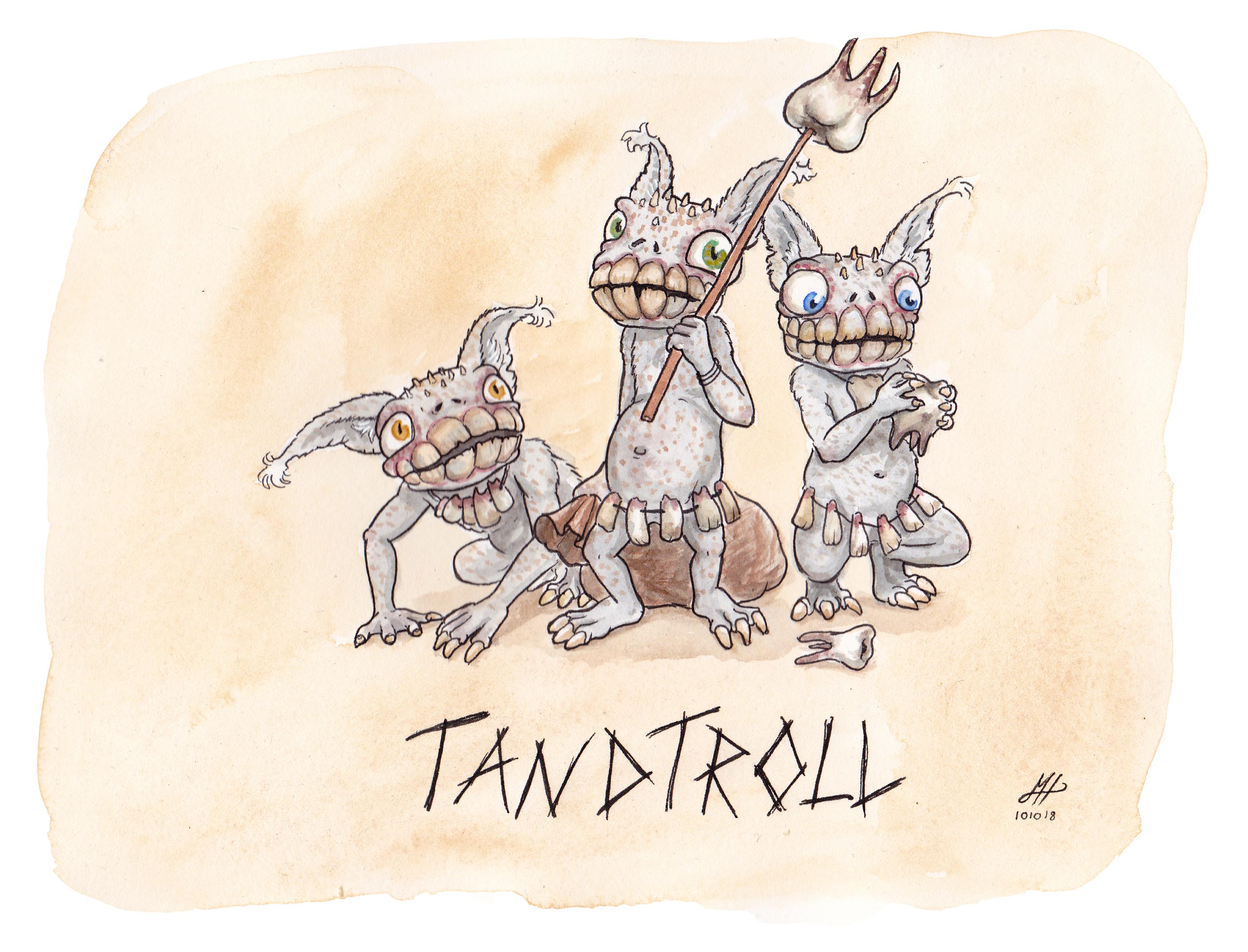 tandtroll illustration ordvits