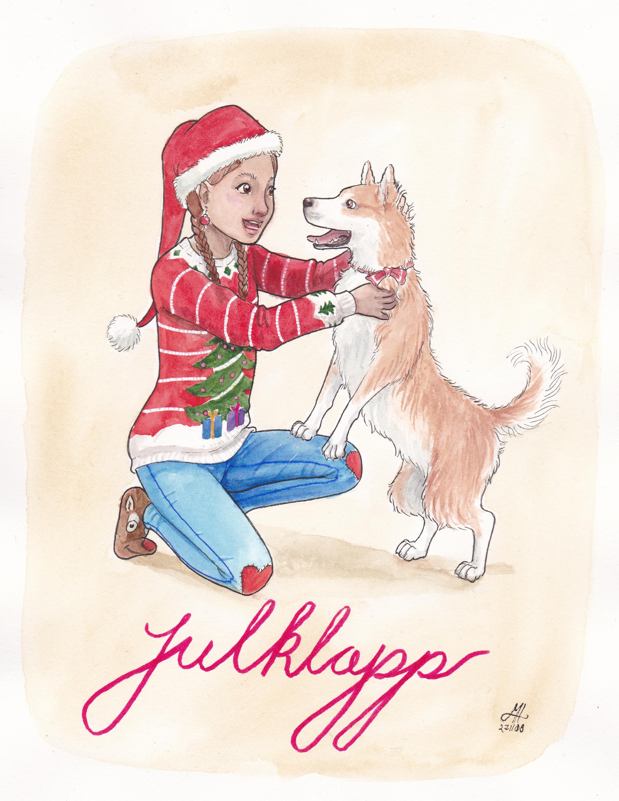 julklapp illustration ordvits