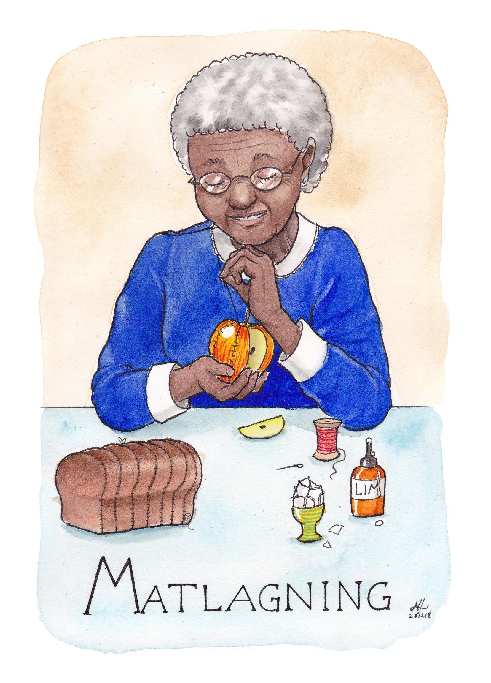 matlagning ordvits illustration