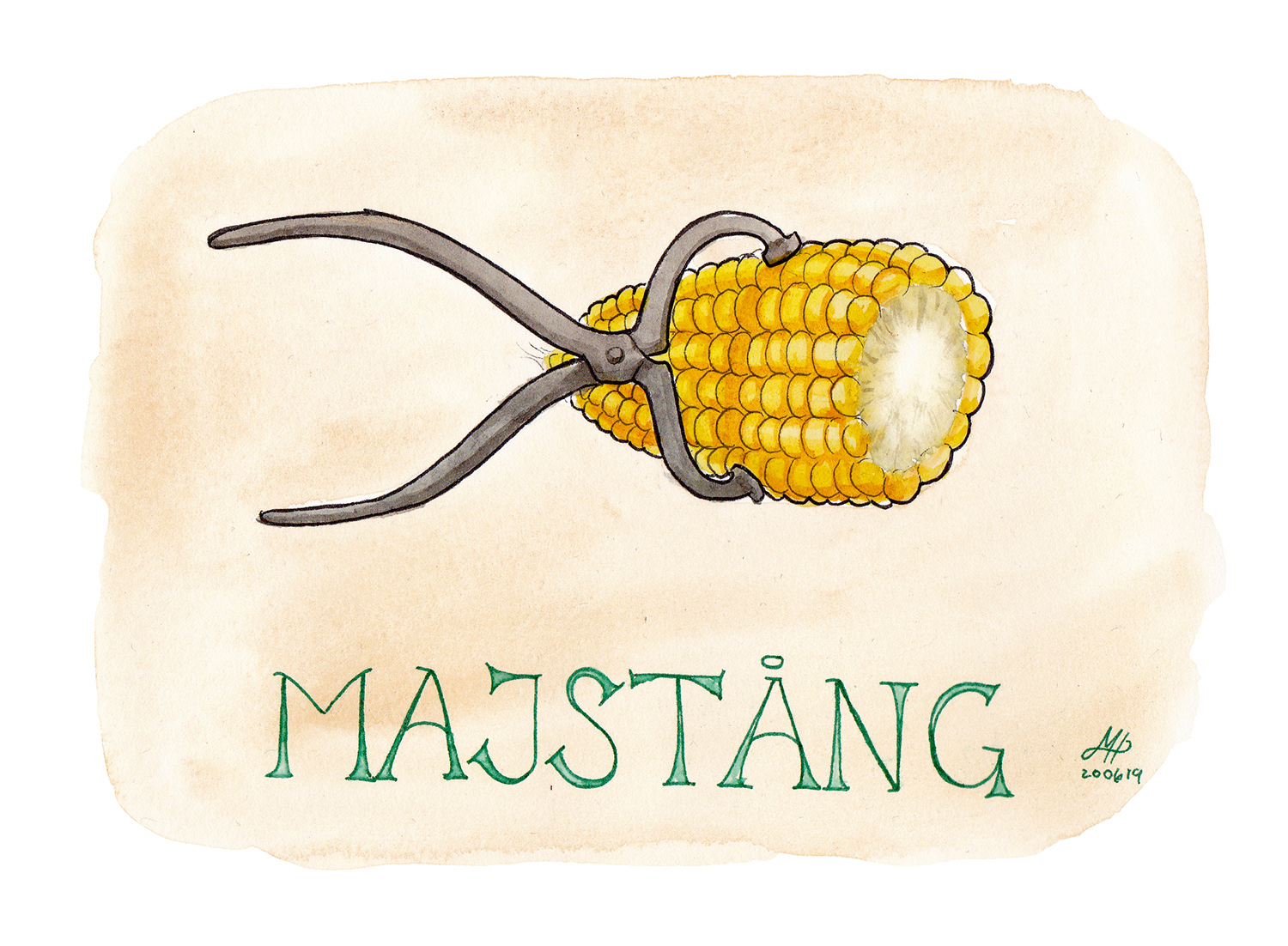 Majstång illustration ordvits