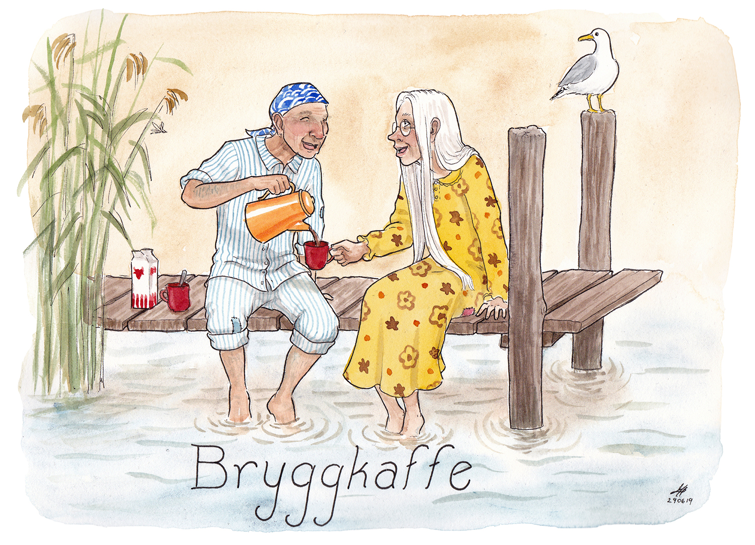 bryggkaffe illustration ordvits