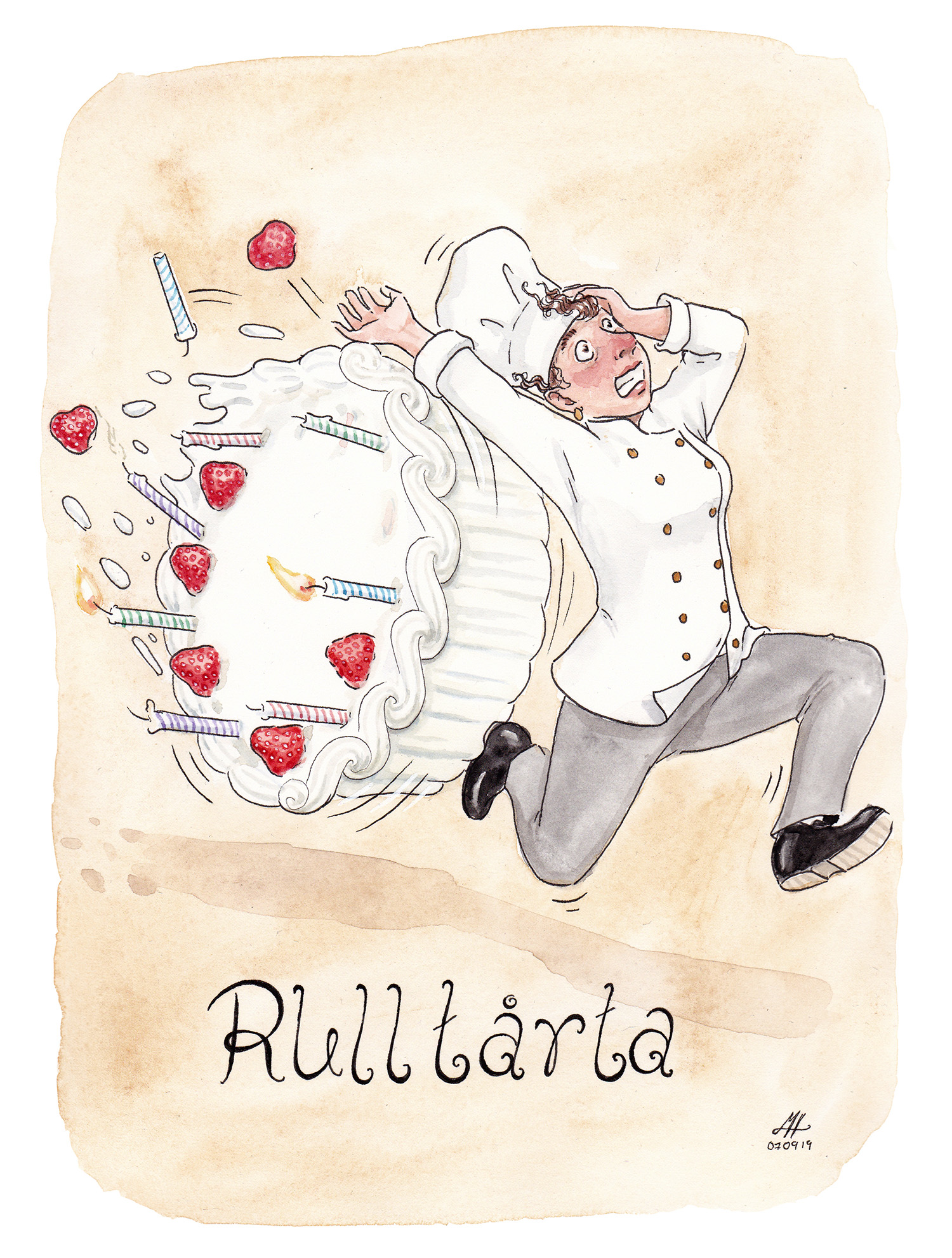 rulltårta illustration ordvits