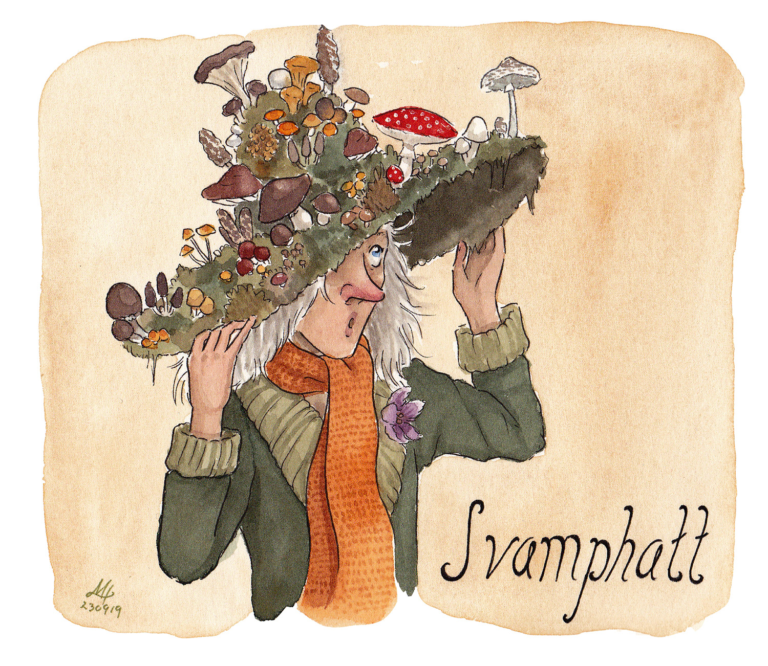 svamphatt illustration ordvits
