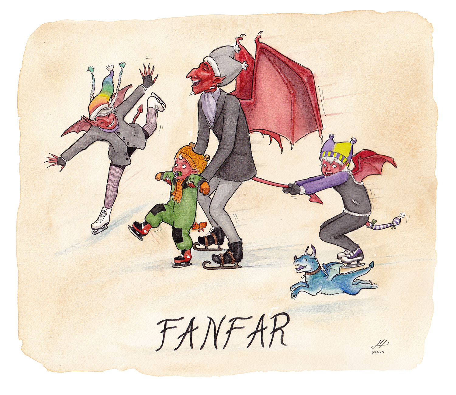 fanfar illustration ordvits