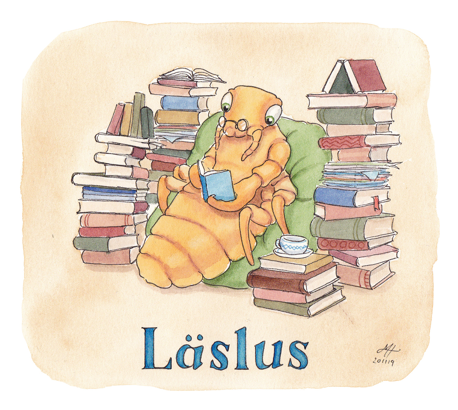 läslus illustration ordvits